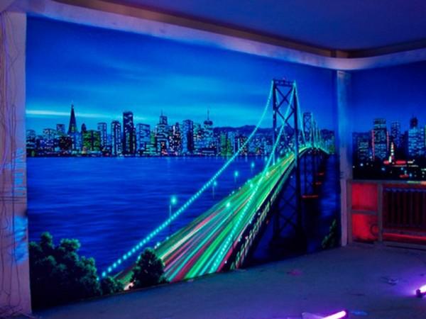 Светодиодные 3D фотообои с видом на мост
