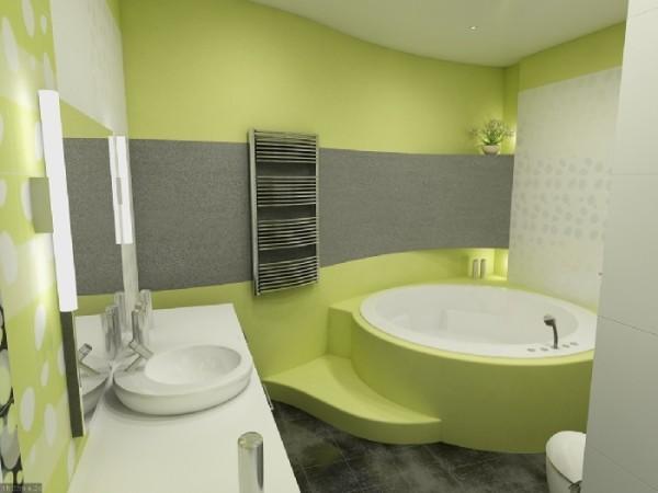 Ванная комната краска и плитка