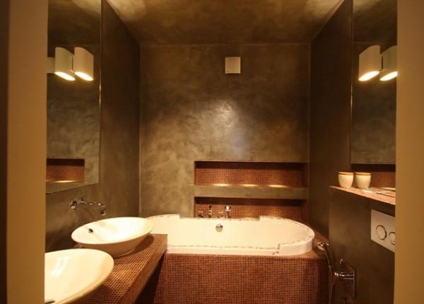 Венецианка – декоративная влагостойкая штукатурка, подходящая для ванных комнат