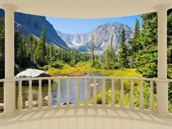 Вид на горы с веранды