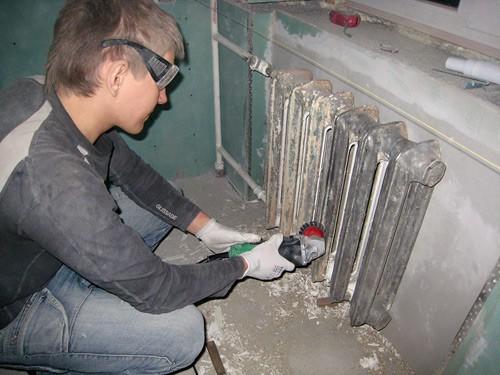 Зачистка плоскости механическим способом