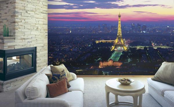 Закат над вечерним Парижем