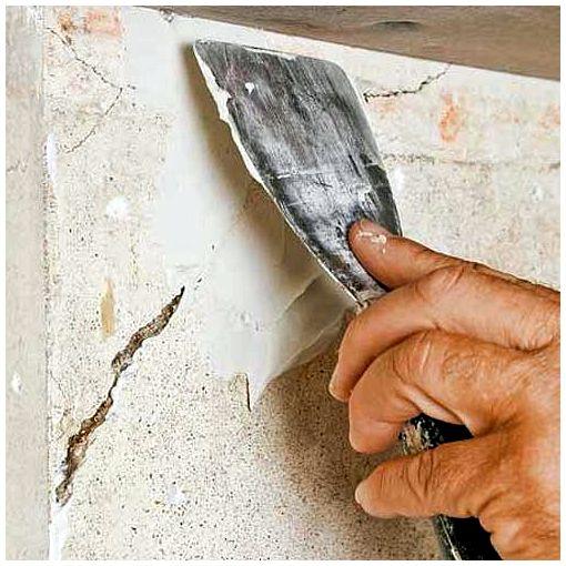 Заполнение трещины ремонтным раствором