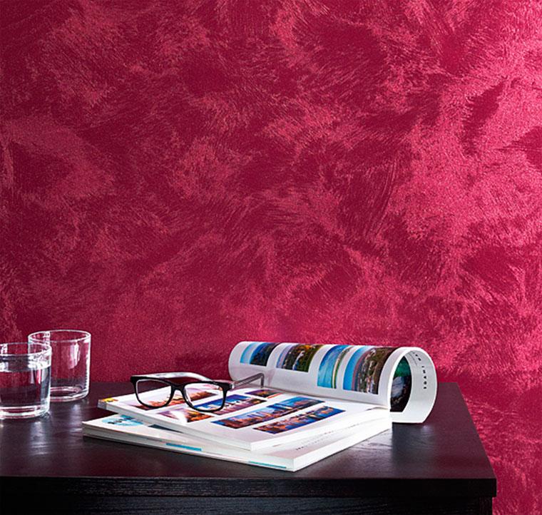 Пример декоративной краски с эффектом шёлка
