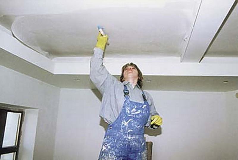 Покраска гипсокартонного потолка Покраска гипсокартонного потолка
