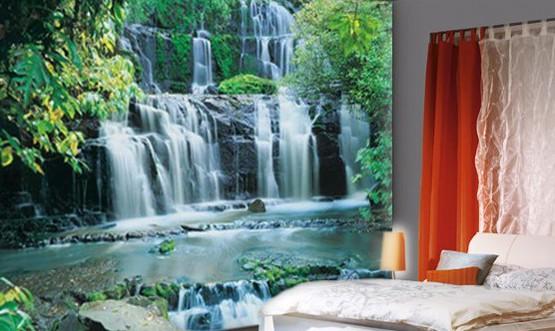 Объёмные фотообои с изображением водопада
