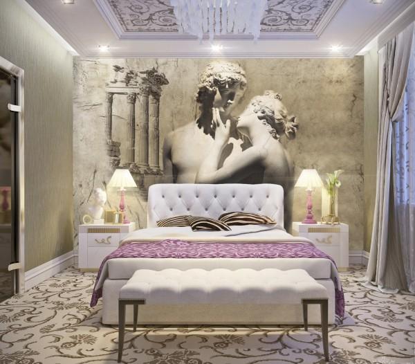 Античные фотообои для богатого и благородного античного стиля интерьера в молодёжной комнате