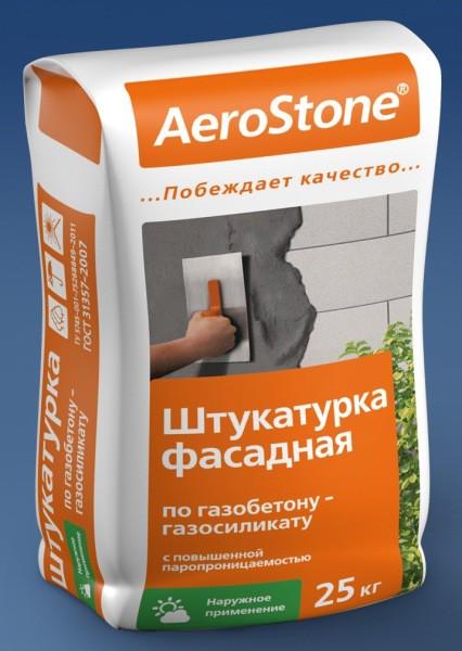 Фасадная смесь для оштукатуривания газобетона