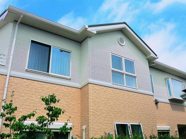 Фото дома, облицованного фасадными панелями под камень и штукатурку