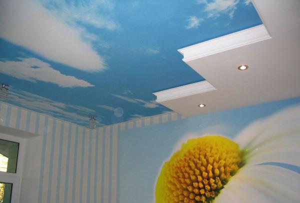 Фотообои небо на потолок