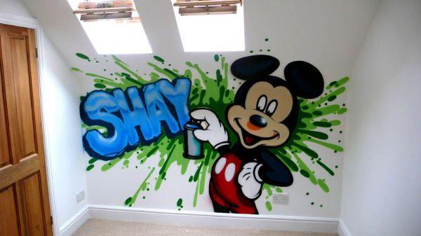 Фотообои с граффити для детской комнаты