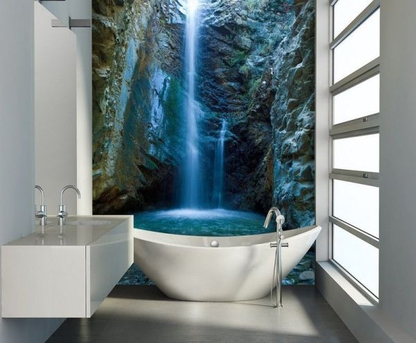 Горный водопад в ванной