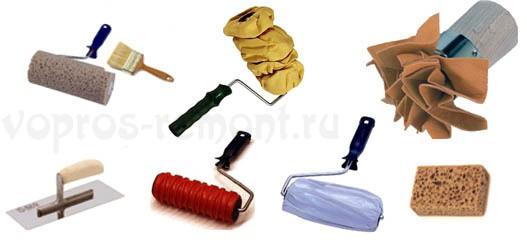 Инструменты для придания рельефа