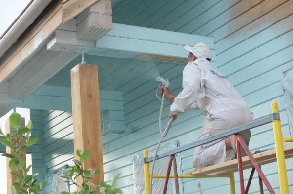 Каким краскопультом красить дом