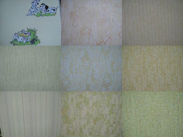 Несколько вариантов флизелиновых обоев с объёмным текстурным рисунком