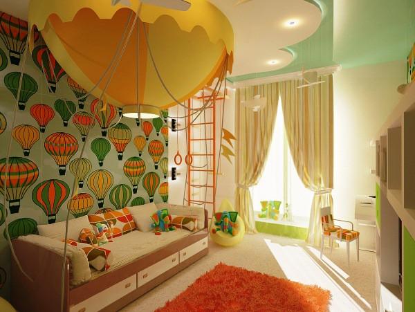Оранжевый цвет в комнате мальчика-подростка
