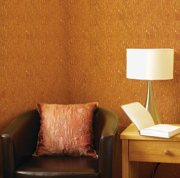 Пример декоративной краски с эффектом «Золотое руно»