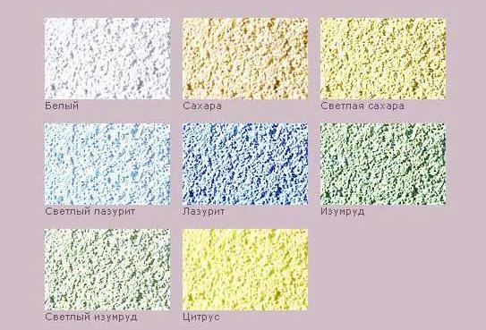 Штукатурка фасадная – цветовая гамма декоративных смесей Кнауф Диамант