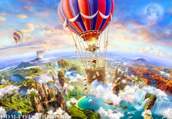 Сказочный мир и водопады – идеальное решение для детской комнаты