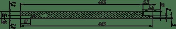 Так выглядит профиль фиброцементного сайдинга A-Stone