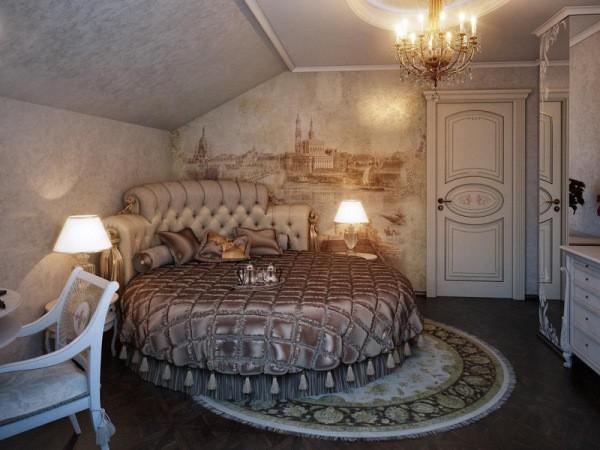 Текстурные фотообои, имитирующие ткань, в комнате молодой «принцессы»
