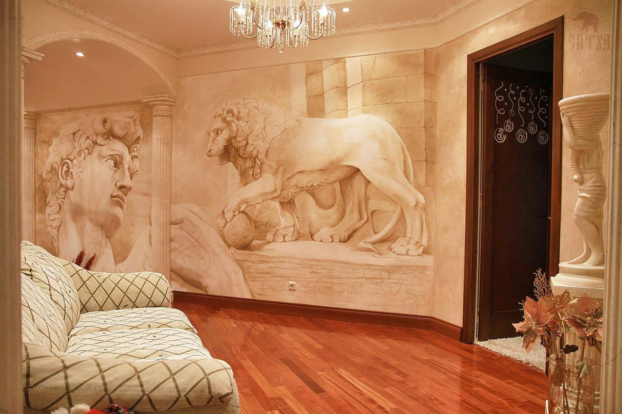 Фотообои фрески в интерьере otdelka-expert.ru