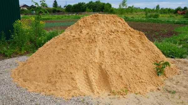 Чистый речной песок для штукатурки