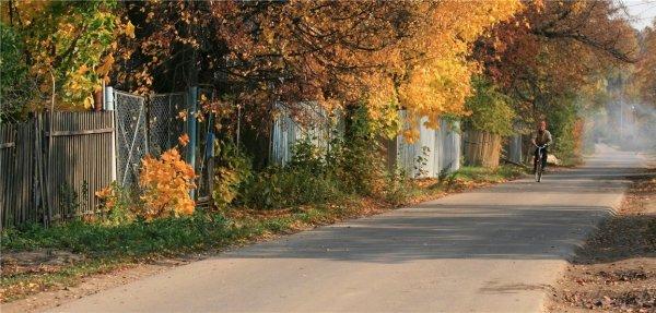 Фотообои с изображением деревенской жизни в осенних красках