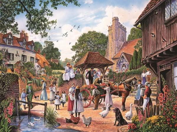 Фотообои с изображением жизни в старой английской деревне