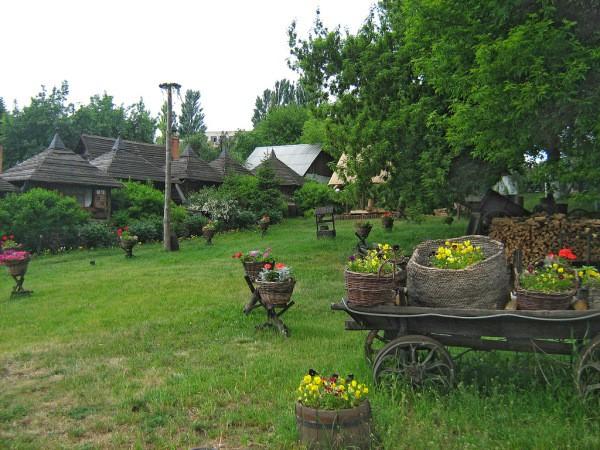 Фотообои с видом Украинской деревушки