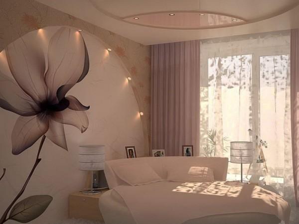 Фотообои в спальне по фен шуй, нежные и спокойные