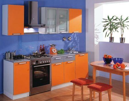 Голубой цвет на кухне