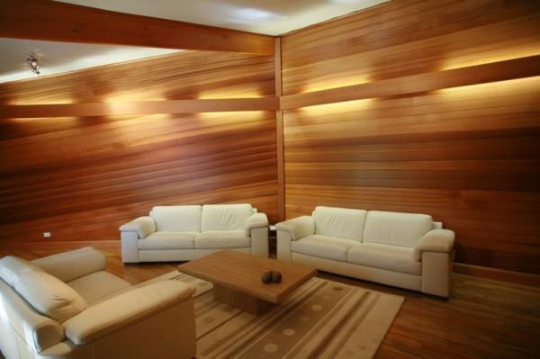 Используем деревянные панели