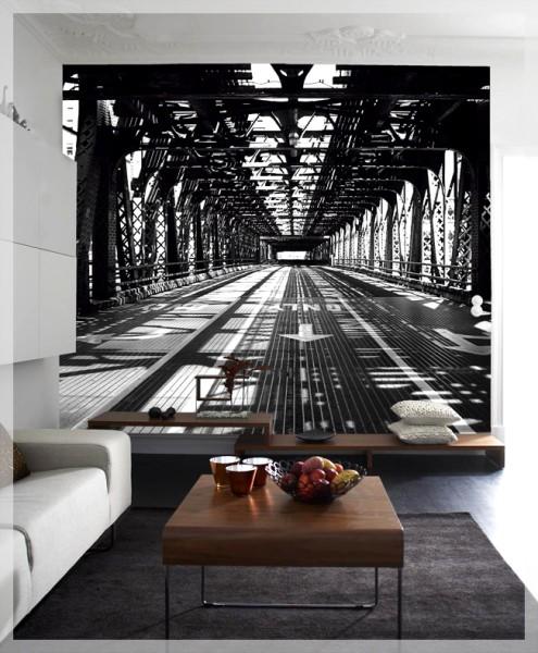 Изображение с перспективой в интерьере, визуально увеличит комнату