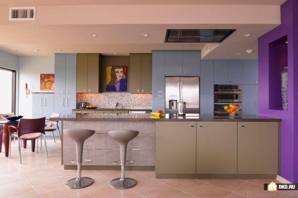 Как покрасить кухню в два цвета