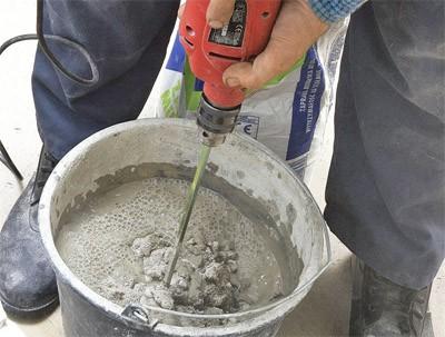 Как приготовить штукатурную смесь из цемента