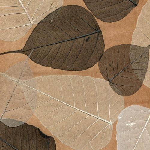 Натуральные обои из листьев