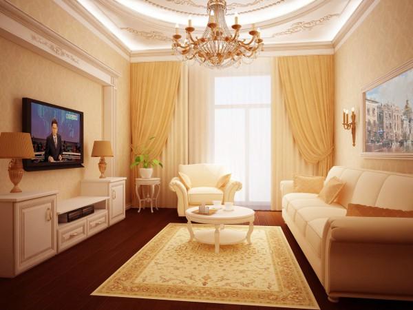 Не большая гостиная в классическом стиле
