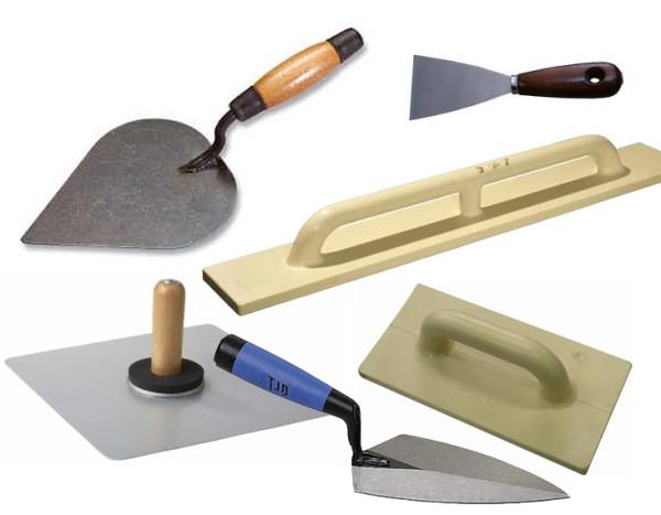 Основной набор ручных штукатурных инструментов