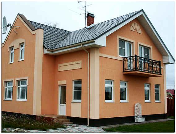 Применение акрила для отделки фасада