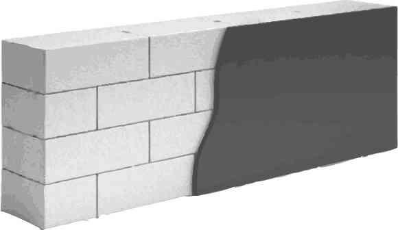 Ровная поверхность позволяет использовать тонкослойную штукатурку