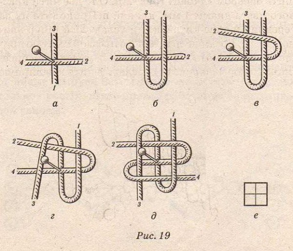 Схема плетения «лотос»