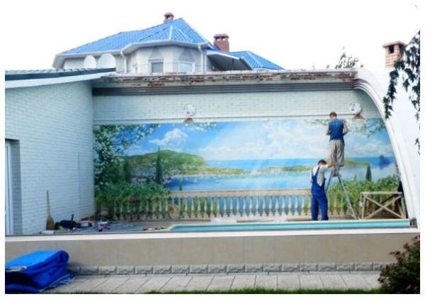 Стенная живопись на фасаде здания