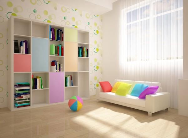 Цвет обоев для детской комнаты