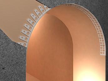 Угол штукатурный арочный