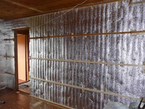 Утеплитель фольгированный для стен