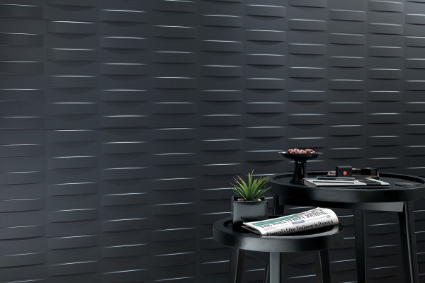 Декоративная облицовка плиткой: покрытие с эффектом 3D