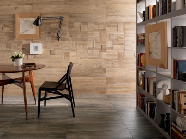 Декоративная плитка для облицовки дома: керамогранит, имитирующий древесину