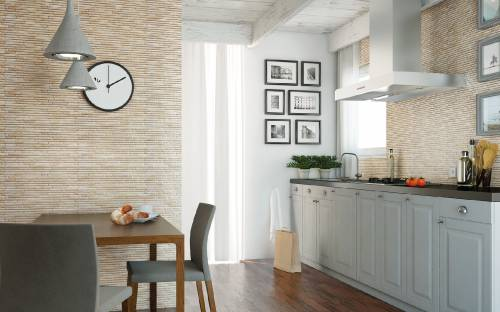 Декоративная плитка: облицовка стен кухни клинкером