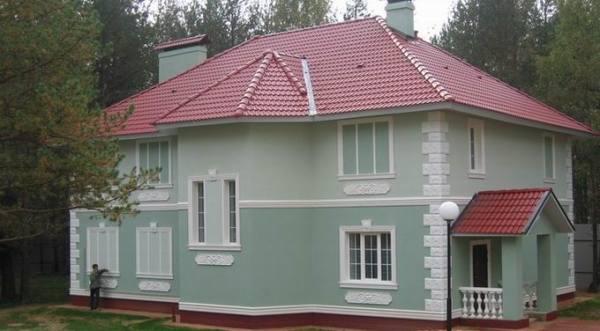 Декоративная штукатурка каркасного дома